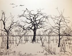 Artwork preview : Deschamps : Arbres et corbeaux
