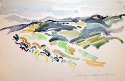 Artwork preview : Watercolors, Deschamps : Montagnes du Vivarais