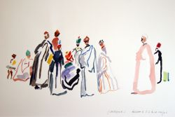 Artwork preview : Watercolors, Le conteur au turban rouge