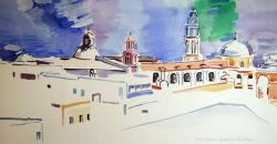 Artwork preview : Watercolors, Eglise et campaniles
