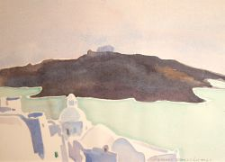 Artwork preview : Watercolors, Santorin