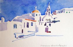 Artwork preview : Watercolors, Village grec