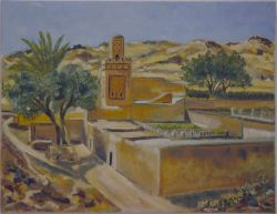 Artwork preview : Paintings, Breteau : Village de Sidi Lahsen