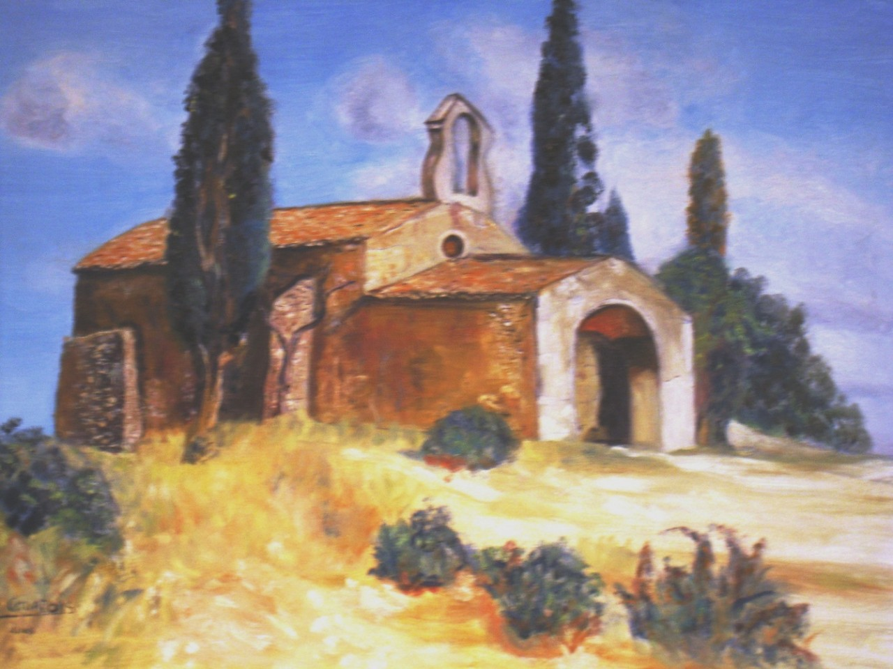 Artwork picture : Dawy, chapelle provençale