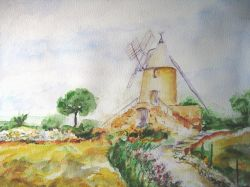 Artwork preview : Watercolors, moulin