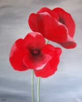 Artwork preview : Acrylic, 2 coquelicots