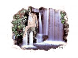 Artwork preview : waterfall girl