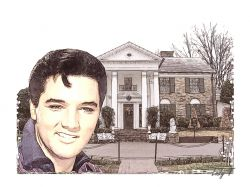 Artwork preview : Elvis at Home