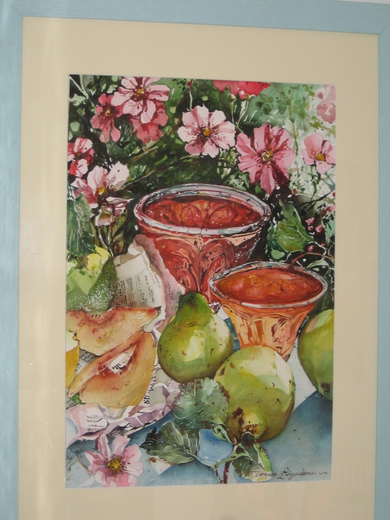 Artwork picture : Florence Rigaudeau, Confiture de coings