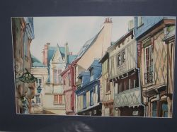 Artwork preview : Watercolors, Rue du magasin Bulle