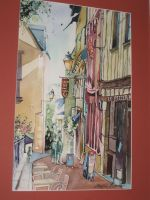 "Artwork preview : Watercolors, café ""Le Pilier Rouge"""