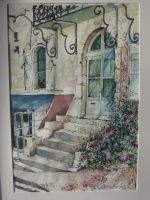 Artwork preview : Watercolors, Façades Monflanquin