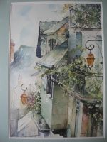 Artwork preview : Watercolors, Village de l'Aveyron