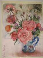 Artwork preview : Watercolors, Bouquet de fleurs