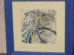 Artwork preview : Watercolors, bicyclette