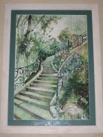 Artwork preview : Watercolors, Escalier n°1