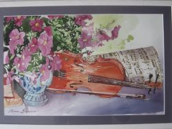 Artwork preview : Watercolors, Violon