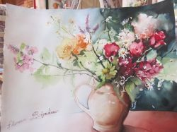 Artwork preview : Watercolors, Rigaudeau : petit bouquet