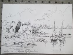 Artwork preview : Drawings, Rigaudeau : paysage de mer (1 )