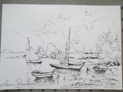 Artwork preview : Drawings, Rigaudeau : paysage de mer ( 3 )