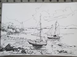 Artwork preview : Drawings, Rigaudeau : paysage de mer ( 4 )
