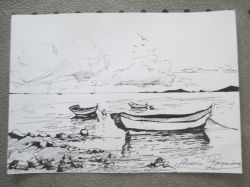 Artwork preview : Drawings, Rigaudeau : paysage de mer ( 5 )