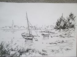 Artwork preview : Drawings, Rigaudeau : paysage de mer ( 7 )