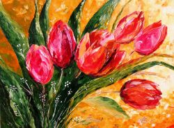 Artwork preview : Paintings, Red Tulips